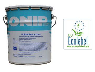 Nouveauté : Une peinture brillante Ecolabel : PURbrillant d'Onip