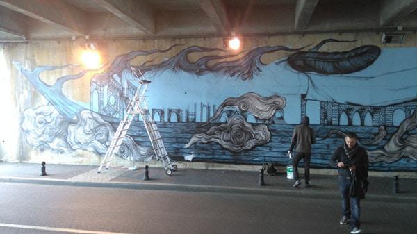 Street Art à Corbeil avec Onip