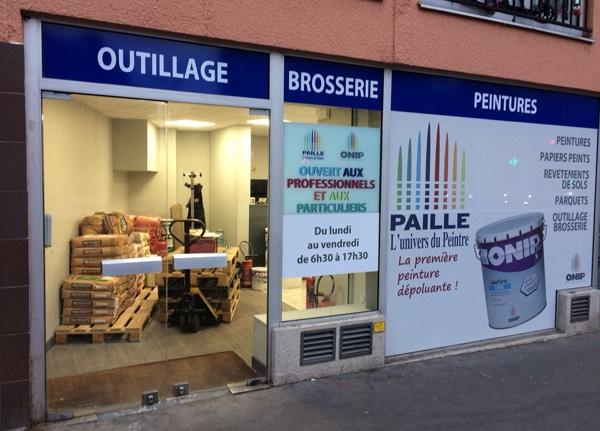 Un nouveau point de vente PAILLE, fournisseur des peintures Onip à Paris (20)