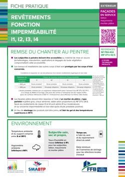 Fiche pratique : revetement fonction impermeabilite intermediaire exterieur - Façades