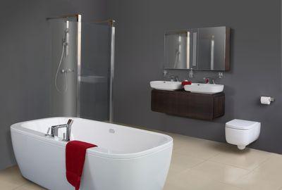 Laque brillante salle de bain