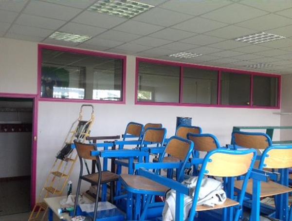 Salle de classe dépolluée