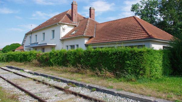 Ancienne gare de Condé en  Brie