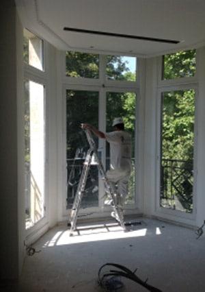 Chantier parisien peinture dépolluante Label'Onip Clean'R