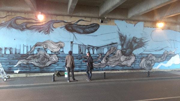 Street Art à Corbeil avec les Peintures Onip
