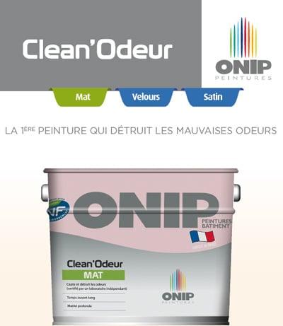 Nouvelle peinture intelligente : Clean'Odeur