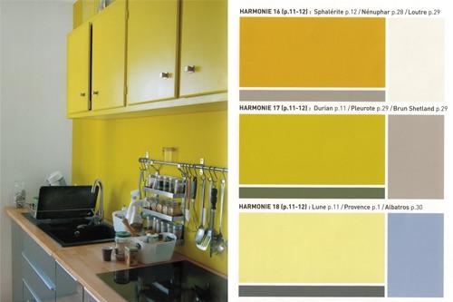 peintures lumineuses jaune