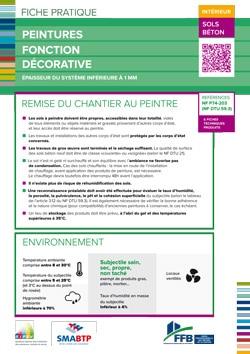 Fiche pratique : Peintures fonction decorative interieur - sols et beton