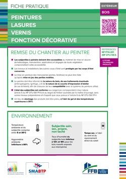 Fiche pratique : Peinture lasure fonction decorative interieur - bois
