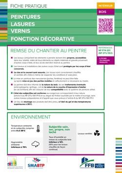 Fiche pratique : Peintures lasure vernis fonction decorative interieur - Bois