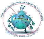 Peinture traitée par un agent antibactérien - Onip