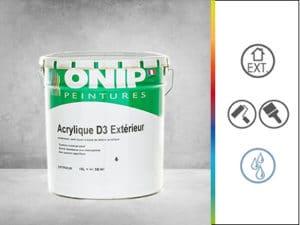peinture revêtement semi épais acrylique D3 extérieur