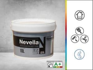 peinture acrylique satinée pour les murs et plafonds