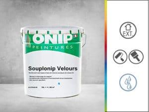 revêtement acrylique souplonip velours