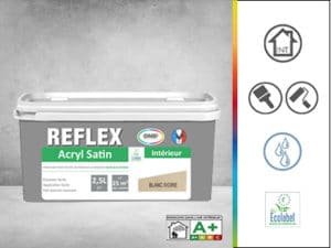 peinture de finition reflex acryl satin