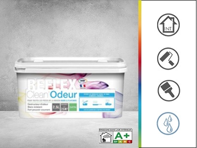 reflex clean odeur satin peinture anti odeurs